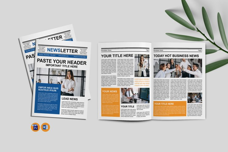 Newsletter template example image 1