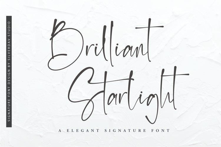 Brilliant Starlight - Elegant Signature Font example image 1