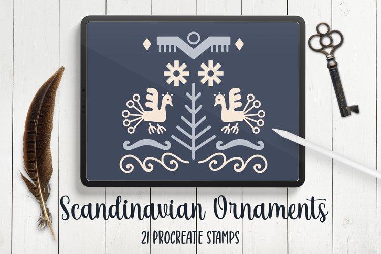 Scandinavian Abstract Modern Folk Art Procreate Stamps