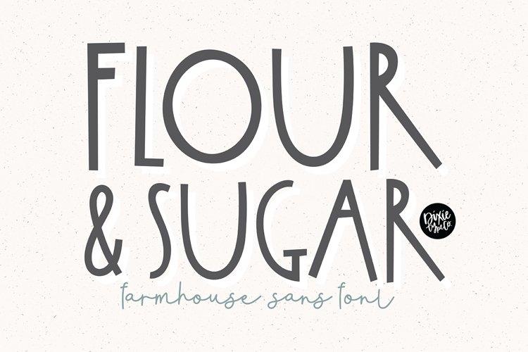 FLOUR & SUGAR a Farmhouse Font example image 1