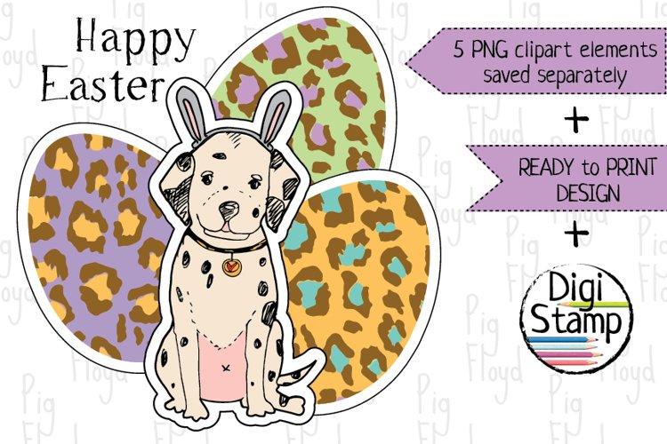 Easter Clipart, Eggs Clipart, Bunny, Puppy, Dalmatia example image 1