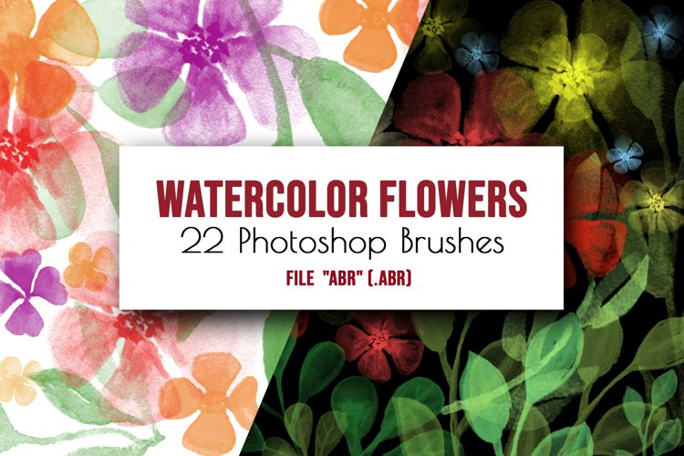 Flowers and leaves Photoshop Brushes example image 1