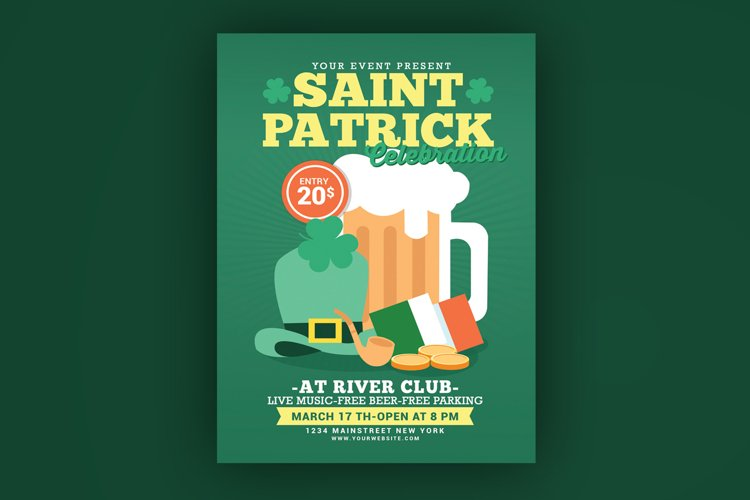 Saint Patrick Celebration Flyer example image 1