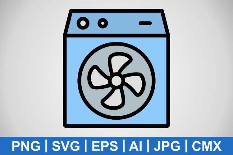 Vector Room Cooler Icon example image 1