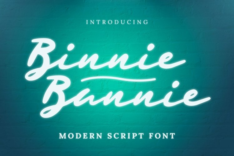 Web Font Binnie Bannie Font example image 1