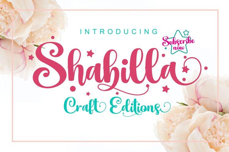 Shabilla Script Font