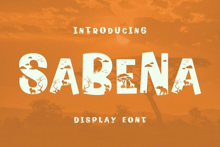 Web Font SaBeNa Font example image 1