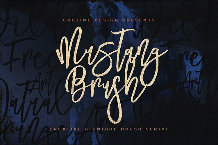 Mustang Brush Font example image 1