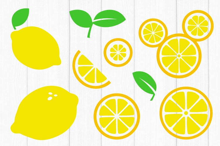 Lemon SVG Bundle, Lemon Slice SVG, Cut Files