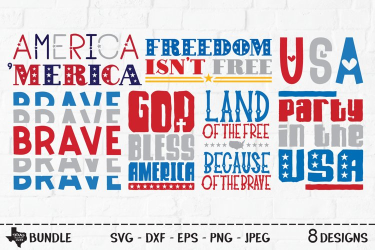 America Bundle SVG, Cut File, Patriotic Shirt Designs