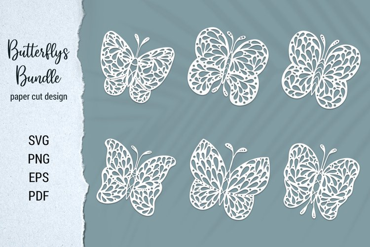 Free Butterfly Paper Cut Design Bundle for Cricut and Silhouette