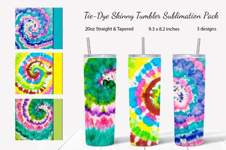 Tie-dye skinny tumbler sublimation design pack
