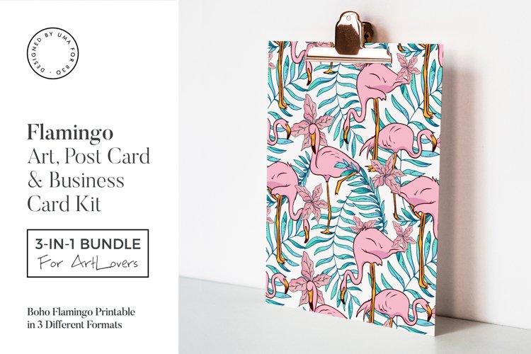 Boho Flamingo Art & Stationary Kit