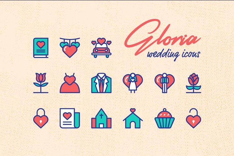 Gloria Wedding Icons example image 1