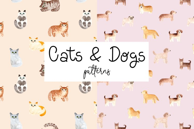 Cats and Dogs Patterns example image 1