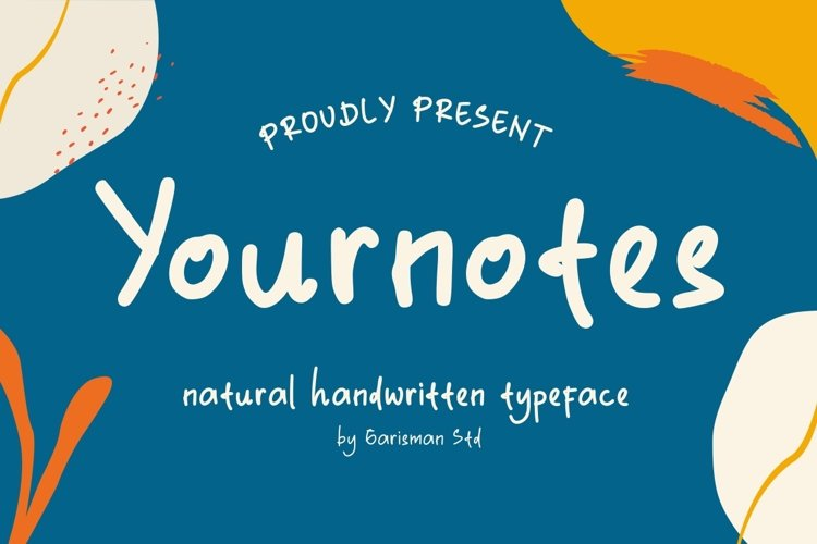 Yournotes - Natural Handwritten Font example image 1