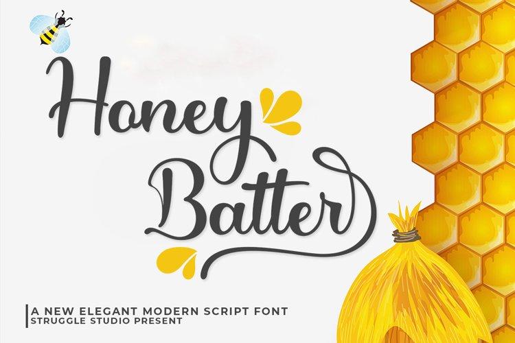 Honey Batter - Elegant Modern Script example image 1