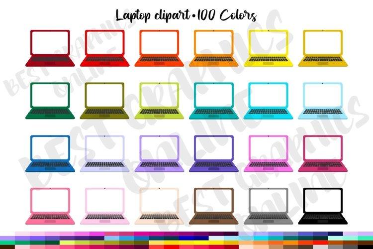 Laptop clipart set, Laptop computer clip art graphics