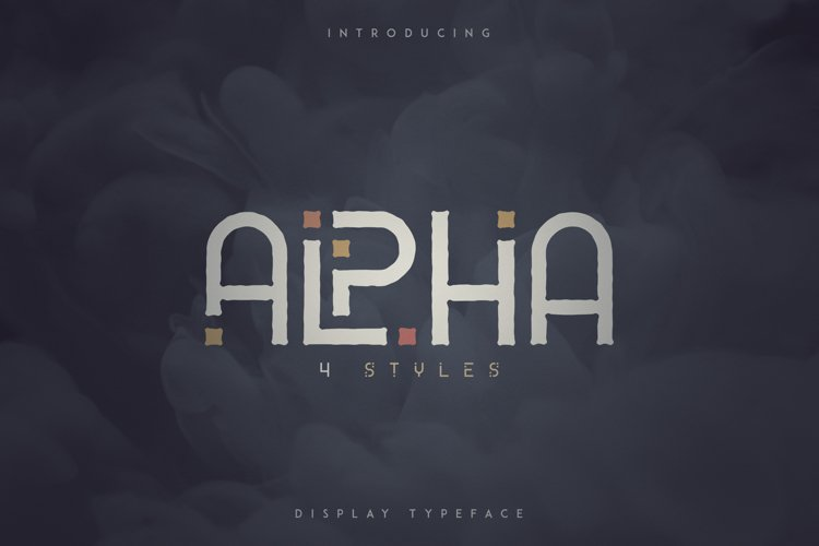 Alpha Display Font - 4 styles example image 1