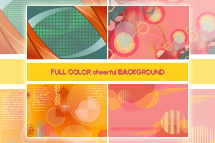 full color cheerful background