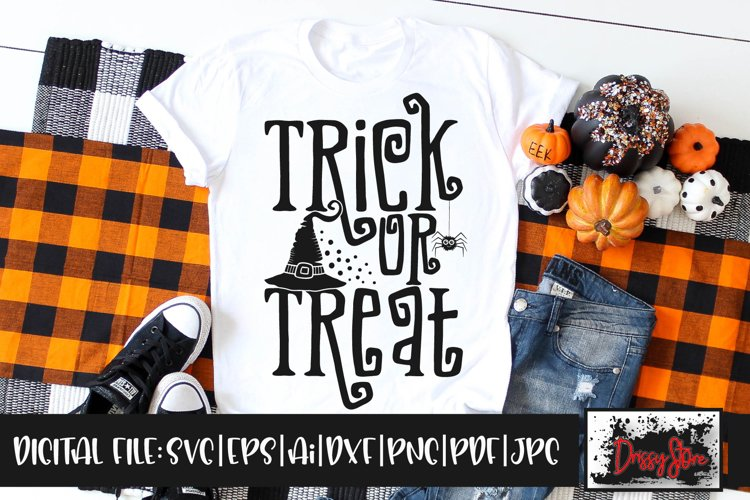 Trick or Treat SVG DXF Ai EPS PDF PNG JPG example image 1