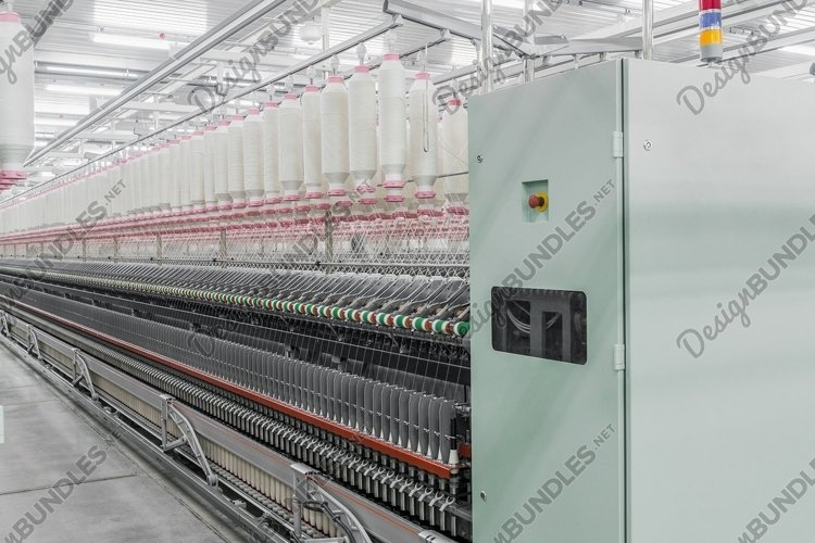 Machinery and equipment in the textile factory example image 1