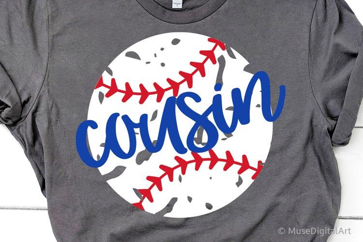 Baseball Cousin Svg, Baseball Svg, Little Brother Baseball