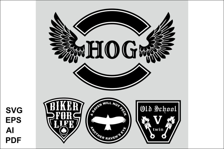 The set of symbols of the bikers example image 1