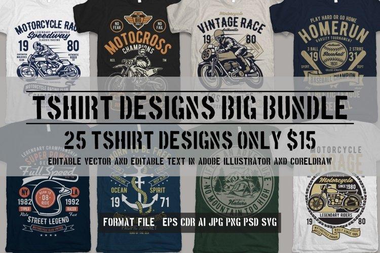 25 Premium Tshirt Designs Big Bundle 4