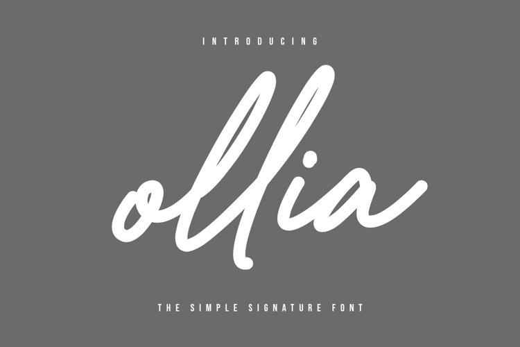 Ollia - Simple Signature Font example image 1