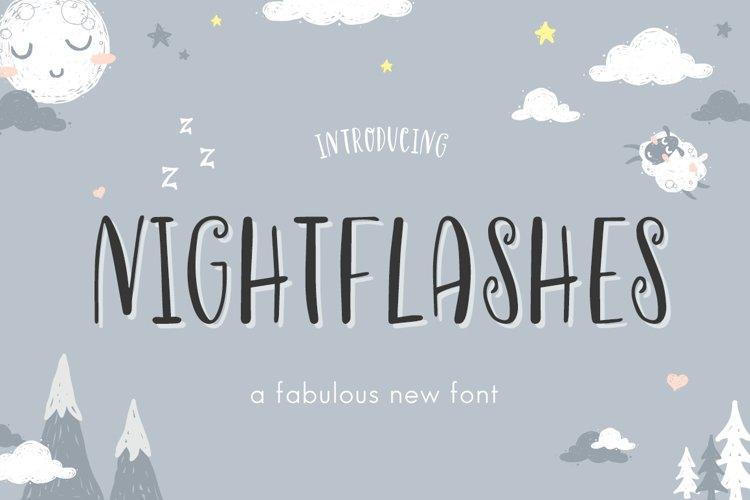 Nightflashes Font example image 1