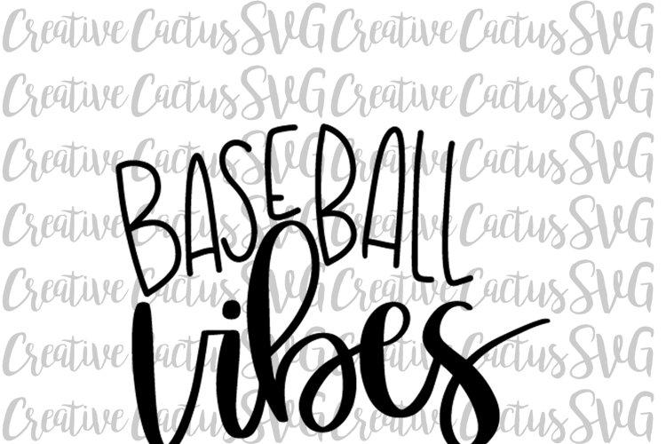 Baseball Vibes SVG example image 1