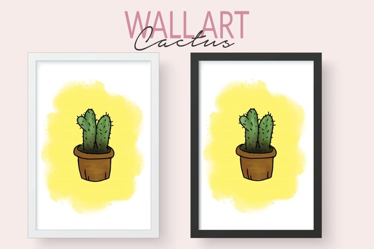 Printable Cactus Wall Art - Watercolor Hand Painted Cactus example image 1