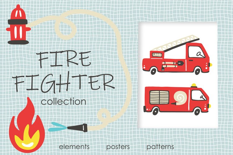 Fire Fighter kids collection example image 1