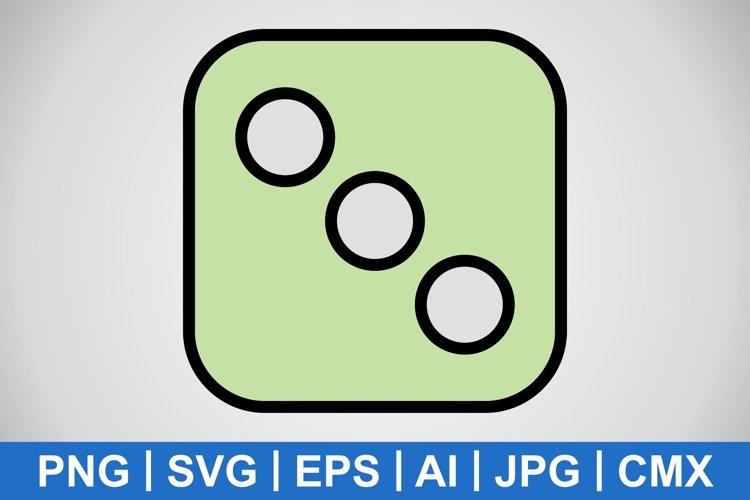 Vector Dice Three Icon example image 1