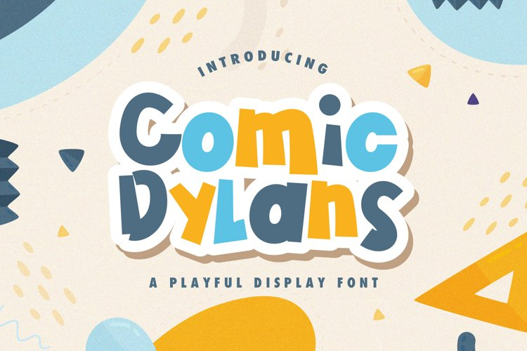 Comic Dylans - Playful Display Font example image 1