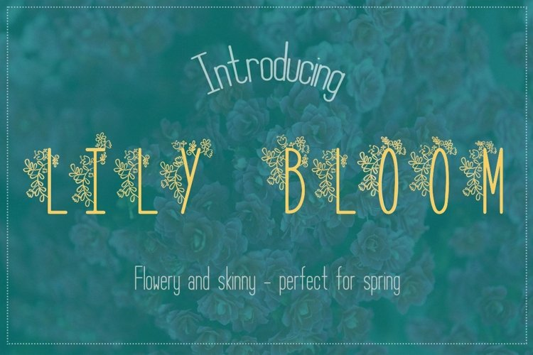 Web Font Lily Bloom Flowery Font example image 1