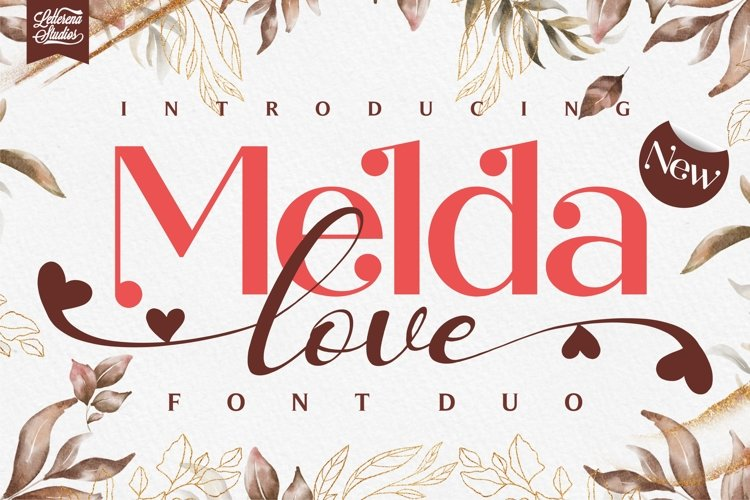 Melda love - Serif and Signature Love Font example image 1