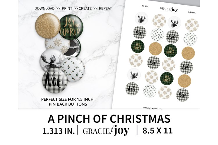 A pinch of Christmas 1.313 inch digital collage sheet example image 1