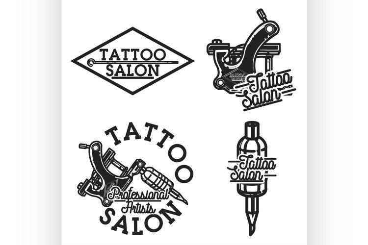 Vintage tattoo salon emblems example image 1