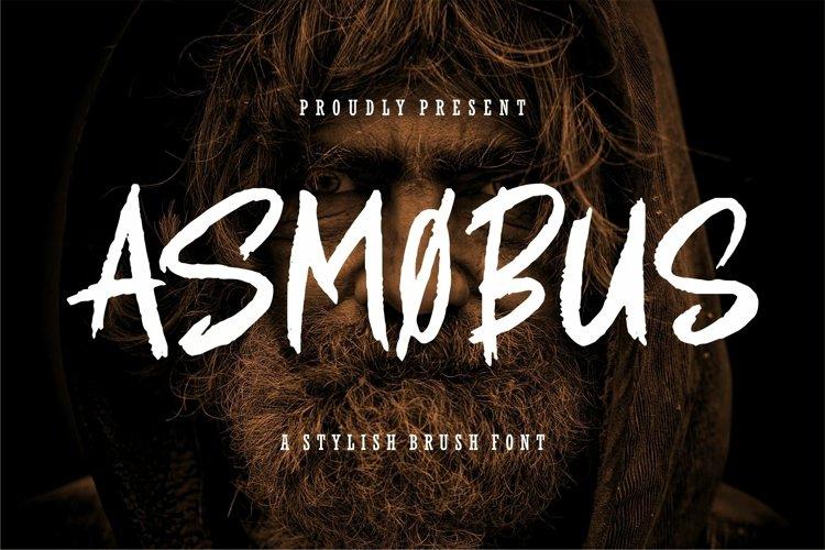 Web Font Asmobus - A Stylish Brush Font example image 1