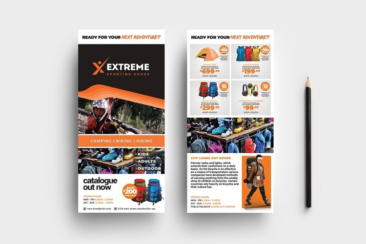 Sports Outlet DL Card Template example image 1