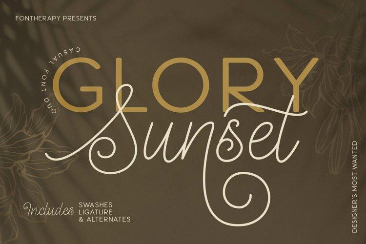 Glory Sunset Luxury Font Duo example image 1