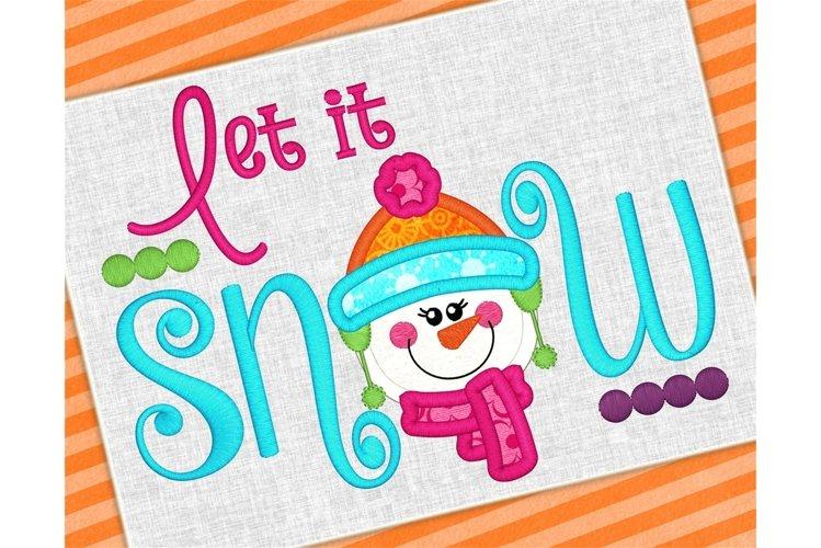 Let It Snow Applique Design 1219