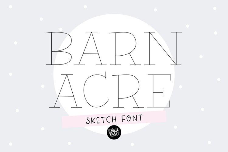 BARN ACRE Sketch Font - Single Line/Hairline Font