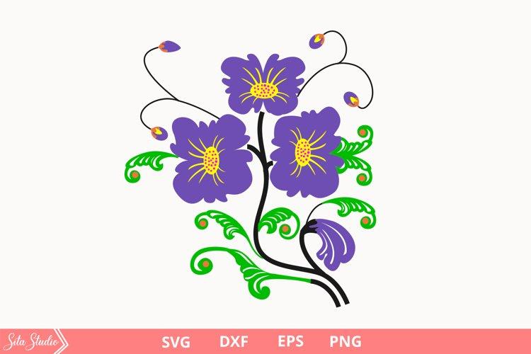 Flower violet Svg, Florals Svg / Png files