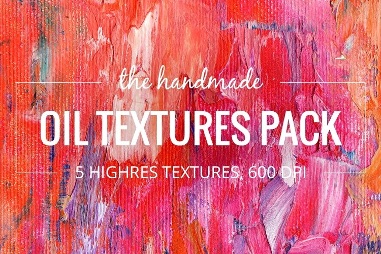 5 Abstract Oil Paint Textures