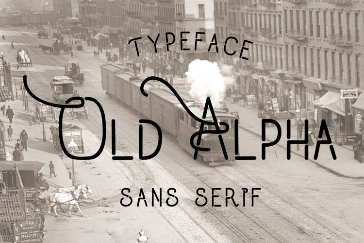 Old Alpha Typeface example image 1
