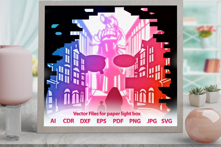 3D Light Box wizard Shadowbox svg template PNG DXF