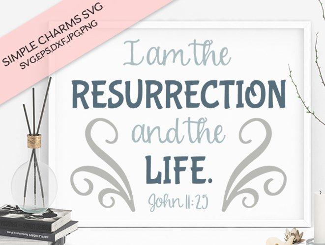 I Am the Resurrection cut file